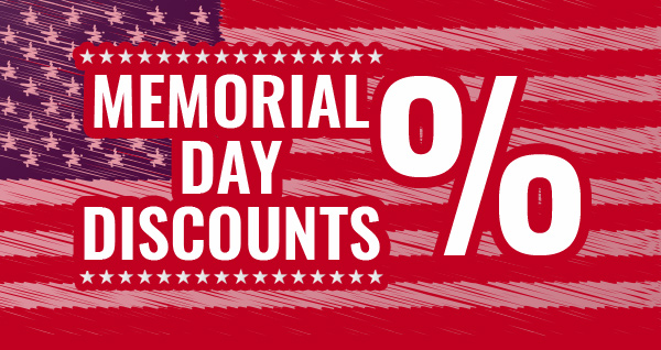 Memorial day Discounts
