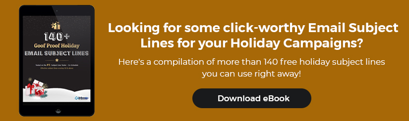 140+ Holiday Email Subject Lines - Download eBook Now